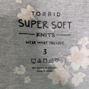 torrid Tops - Torrid Plus Size Super Soft Babydoll Floral Top